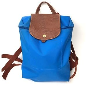 Longchamp Le Pliage Blue Backpack